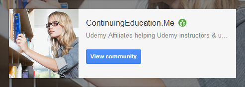 Visit our ContinuingEducation.Me G+ Community