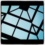 Gazebo roof framing sky view