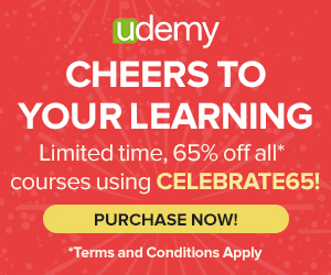 Celebrate Udemy Learning with these 65% Off Limited Time Deals – Ending December 20, 2013