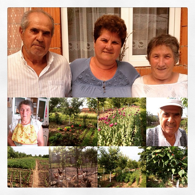 Parents and garden work - Romania 2015