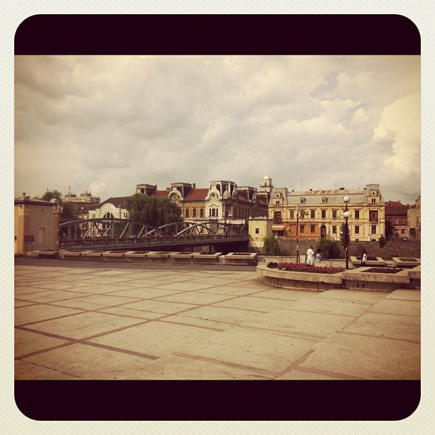 Cloudy Lugoj downtown