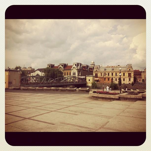Cloudy Lugoj downtown