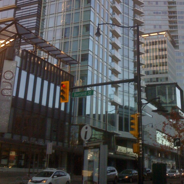 Burrard Street Vancouver, in front of Vancouver Convention Center