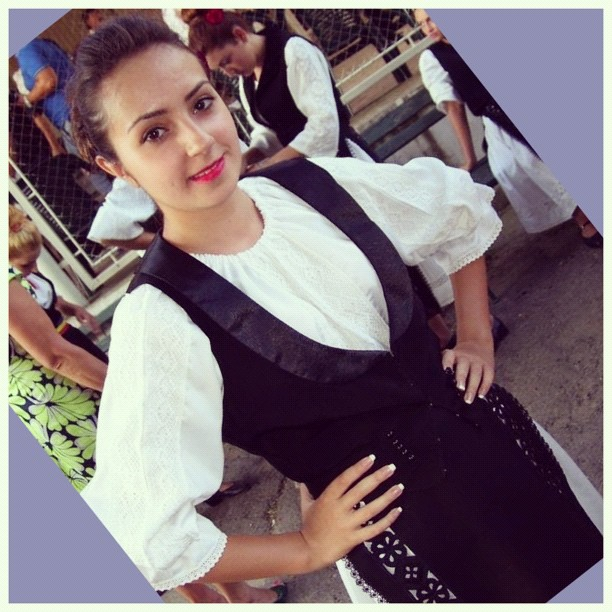 Romanian traditional costume - Banat region (our nice Flavia)
