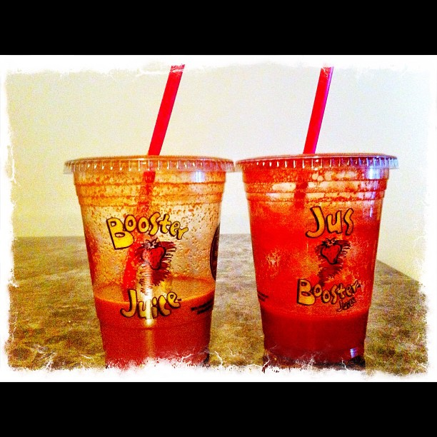 Booster juice - great fruit and veggie juice