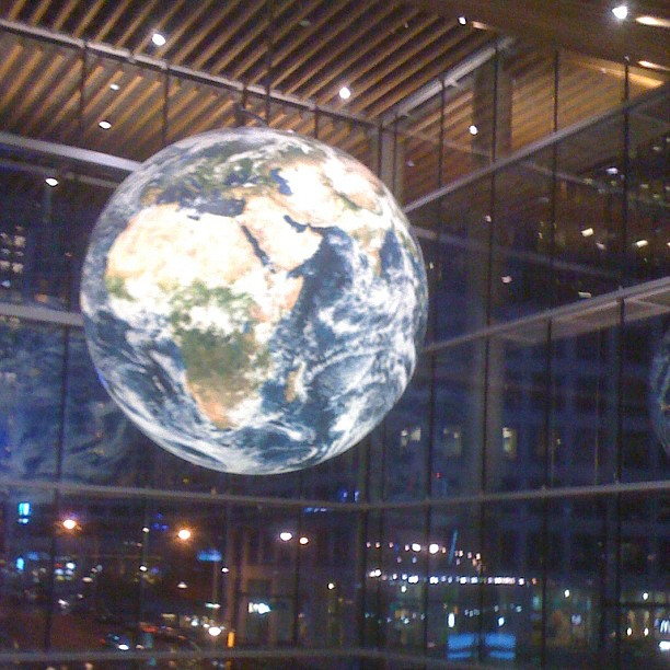 Earth Globe inside Vancouver Convention Center