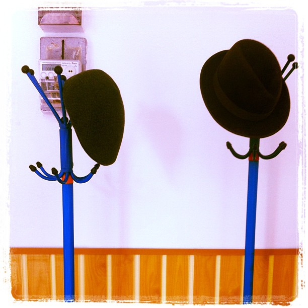Two hats in the hall