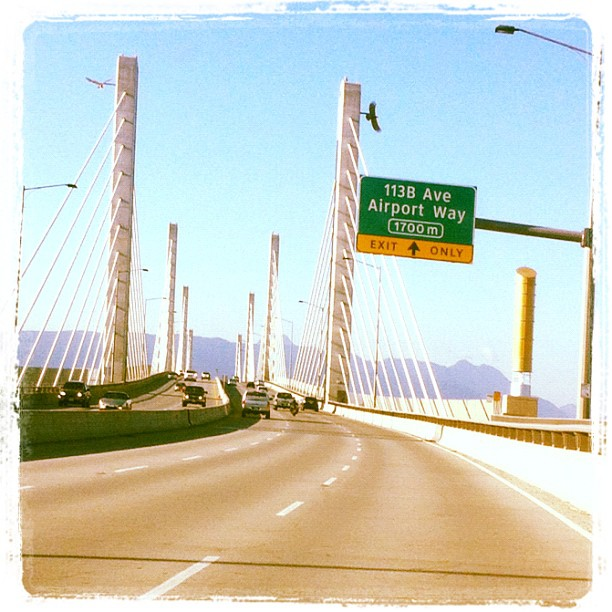 Golden Ears Bridge between Maple Ridge and Pitt Meadows