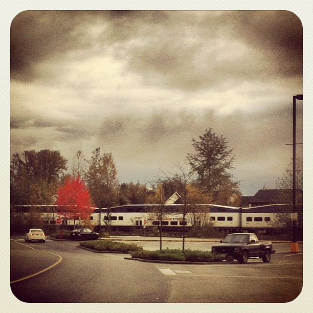 West Coast Express Train entering Maple Ridge at Maple Meadows
