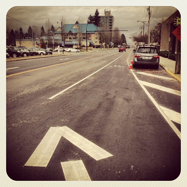A winter morning in Maple Ridge, intersection of Dewdney and 224th Street