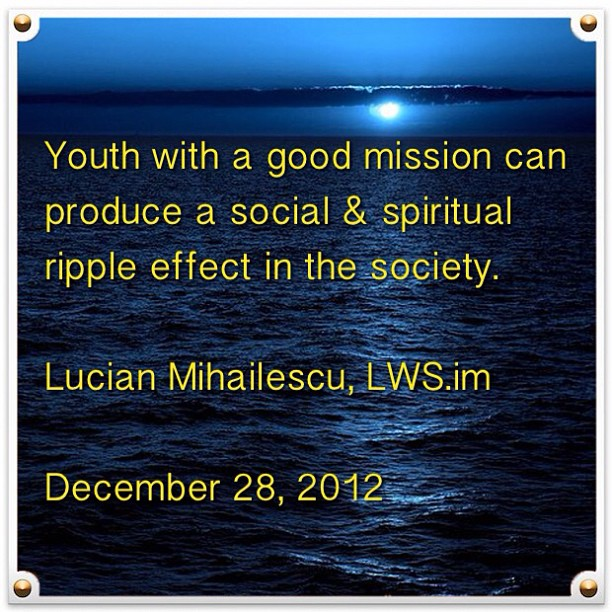 Youth with a good mission can produce a ripple effect