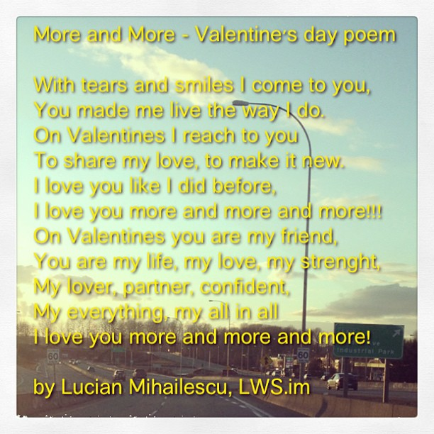 More and more - A Valentine's day poem