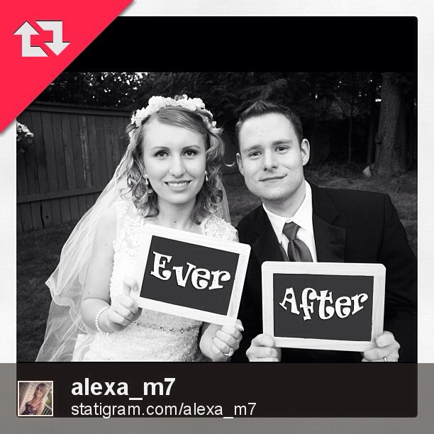 Alexa & Justin Ever After Wedding Portrait!