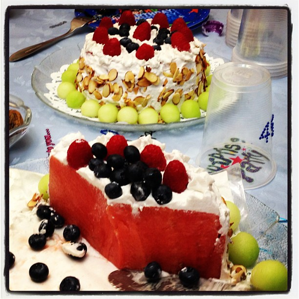 Outstanding Watermelon Birthday Cakes From My Romanian Friends Lucian Web Funny Birthday Cards Online Inifofree Goldxyz