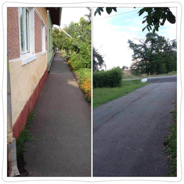 Romania - country alley and driveway