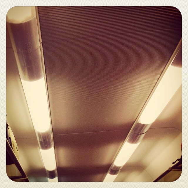 Beacons of light - train wagon ceiling