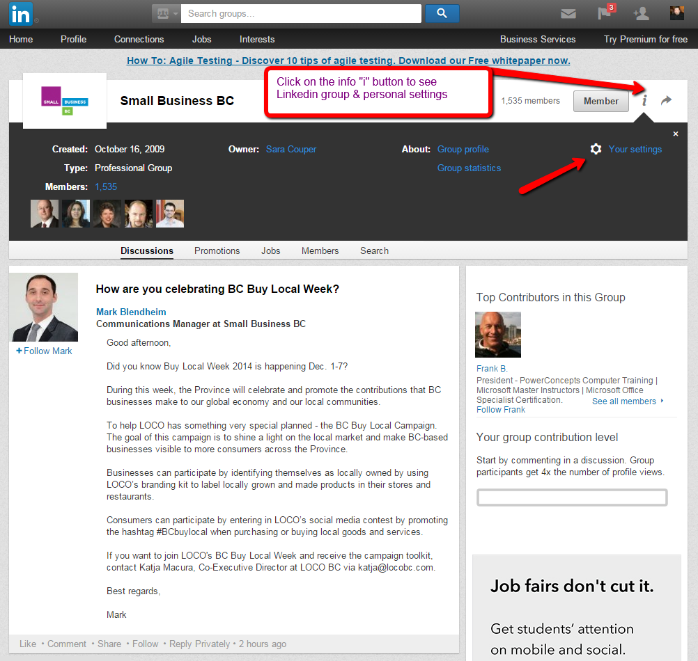 linkedin-groups-personal-settings